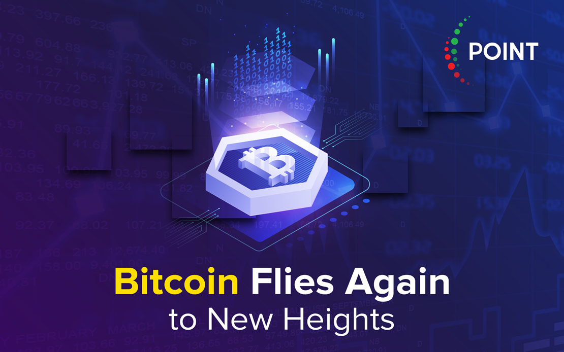 Bitcoin flies again to new heights