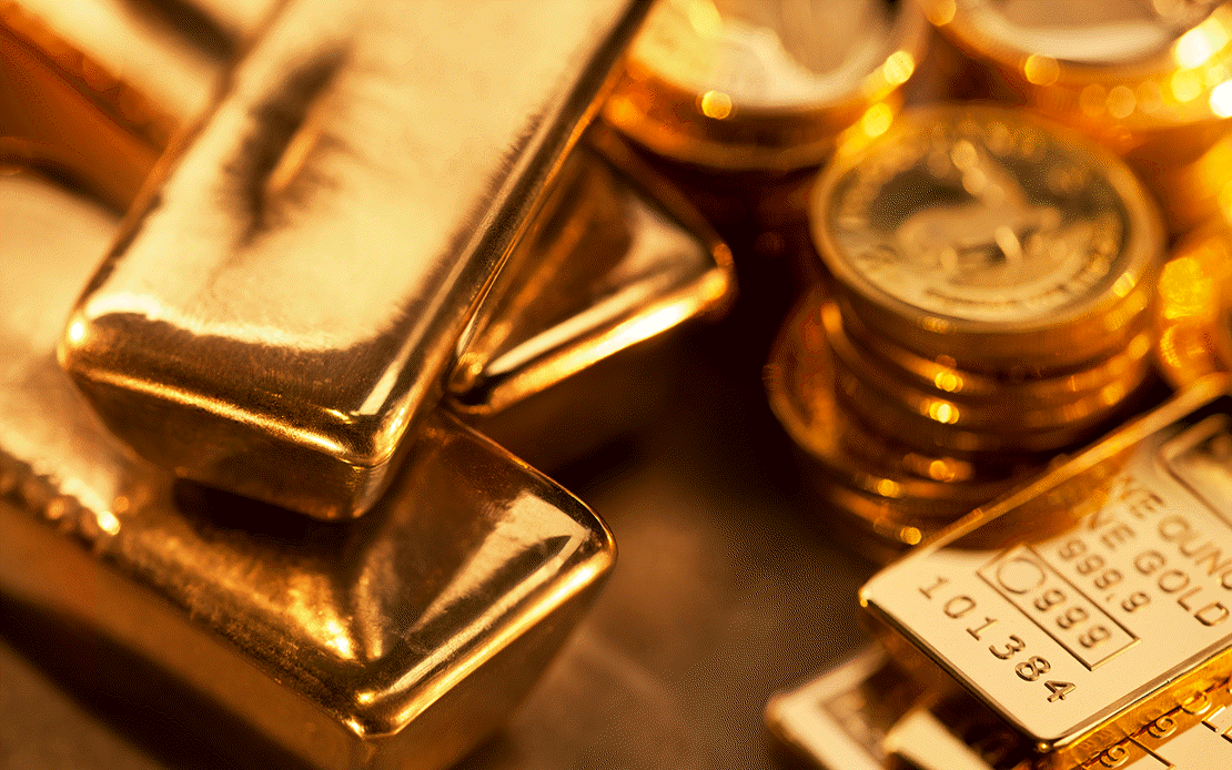 Gold is flying against gravity