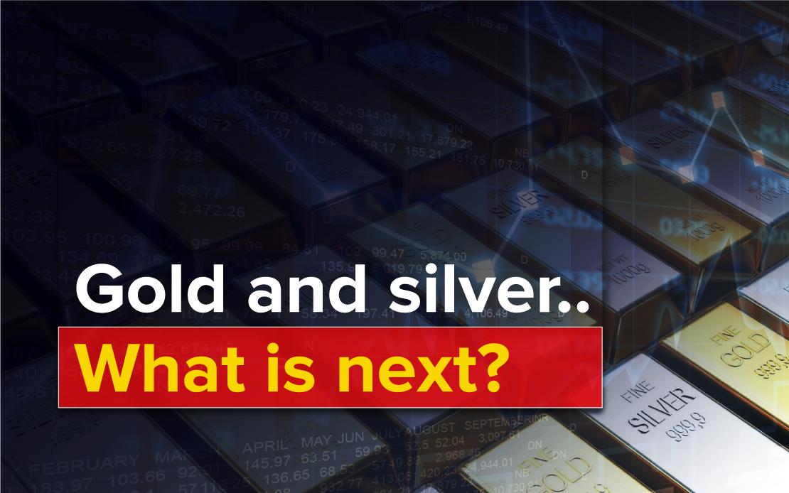 Rising US government bond yields are putting silver and gold under pressure