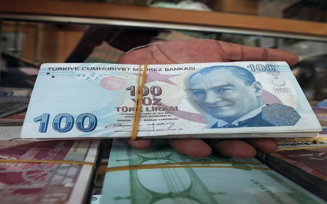 The Turkish lira is declining amid fears of US and European sanctions